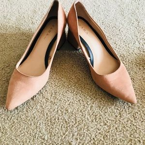 Zara Suede Block Heeled Shoes!